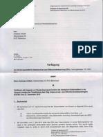 Antwort 24-1-2011 Verfuegung EDA Direktion Fuer Ressourcen Wg Zugang Zu Beglaubigungsschreiben Deutscher Botschafter Axel Berg Verweigern