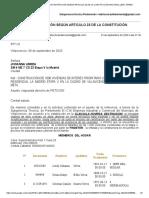 Gmail - Fwd_ DERECHO DE PETICIÓN SEGÚN ARTICULO 23 DE LA CONSTITUCIÓN NACIONAL-LEIDY URREA