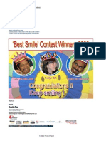 Winners of the Happiest Smile Contest