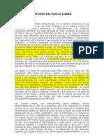 ESTUDIO DEL SUELO LUNAR