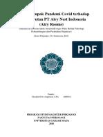 Analisis Dampak Pandemi Covid terhadap Kebangkrutan PT Airy Nest Indonesia