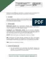 SST- PC-007 PROCEDIMIENTO INVESTIGACIÓN DE ENFERMEDAD LABORAL