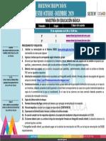 Reinscripción 3er Mod.2020 MEB UPN 151 Toluca