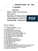 West Kalimantan Students' Conceptions About Sound