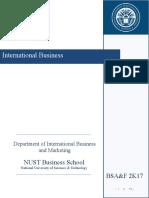 Courseoutline International Business BSAF 2K17 A and B