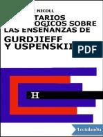 Comentarios psicologicos sobre las ensenanzas de Gurdjieff y Uspenskii Libro 5 - Maurice Nicoll.pdf