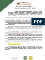 2. Modificarea Declaratiei 394 - tranzactii cu partile afiliate