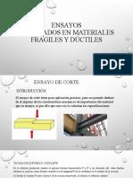 Ensayo de Materiales Ductiles y Fragiles
