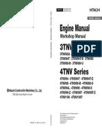 Yanmar, Engine Manual 3tnv,4tnv Series