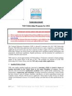 2012_VEF_Fellowship_Announcement_ENG