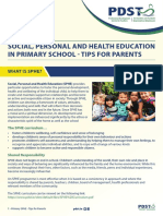 primary sphe tips for parents