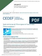 2- Taux de TVA en France