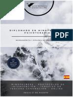 DOSSIER_DIPLOMADO EN MINDFULNESS Y PSICOTERAPIA 6 EDICIÓN
