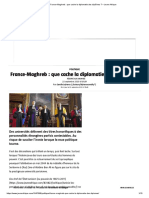 France-Maghreb Que cache la diplomatie des diplômes