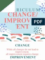 Curriculum Change Phase V
