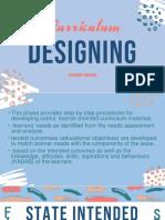 Curriculum Designing Phase II