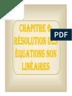 Chapitre 6 - Résolution de l'Eq f(x)=0 (1)