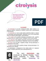 Electrolysis pdf