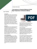 TOC Analysis for Standard Methods 5310B -Shimadzu