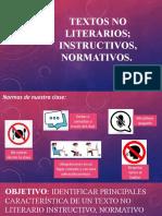 PPT Textos Normtivos, Instructivos