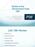 Review of the LGC Presentation (1)