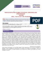 FICHA DE  REFLEXION  1° Y 2° DPCC SAN JUAN UMABAMBA