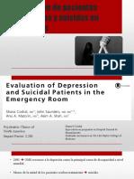Depresión y suicidio en urgencias