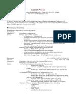 Sundeep Peswani's Resume