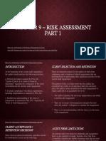 (REPORT) CHAPTER 9 – Risk Assessment Part 1