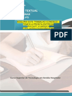 GESTÃO HOSPITALAR 5 E 6.pdf PRODUÇÃO TEXTUAL INTERDISCIPLINAR INDIVIDUAL – PTI PRODUÇÃO TEXTUAL Tecnologia em Gestão Hospitalar INTERDISCIPLINAR INDIVIDUAL – PTI Curso Superior de Tecnologia em Gestão Hospitalar ADQUIRA ESTE TRABALHO CONOSCO – TEMOS A PRONTA ENTREGA WHATSAPP