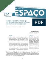 2019 - Revista Espaço - Artigo Libras