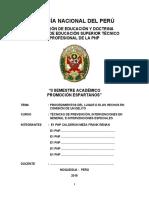 MONOGRAFIA  PROCEDIMIENTOS DEL LUGAR DE LOS HECHOS EN COMISION DE UN DELITO - E1 PNP CALDERON.docx