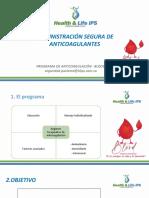 ADMINISTRACIÓN SEGURA DE ANTICOAGULANTES