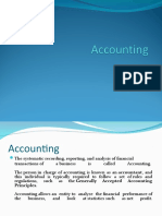 Procedure of accounting