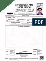CERTIFICADO DE ANTECEDENTES PENALES Y JUDIALES