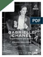 Exposition Gabrielle Chanel. Manifeste de mode au Palais Galliera, Paris