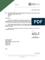 Carta del CIDH por Martín Larraín