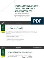 EFECTOS DEL RUIDO SOBRE LOS AMPLIFICADORES OPERACIONALES