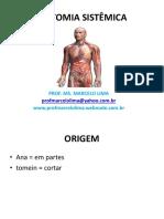 AULA DE INTRODUCAO ANOMIA, OSTEOLOGIA, ARTROLOGIA E MIOLOGIA ESTACIO 2