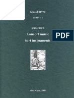 REYNE, Gérard • Solafrica. Consort music to 4 instruments (2001) (music score) (+mp3 & midi)
