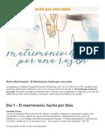El Matrimonio, hecho por una razón.docx