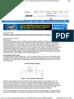 Emulated ripple technique advances hysteretic switchmode supplies  Power Management DesignLine