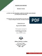CHAITANYA DISSERTATION REPORT_4TH SEM.ABA