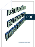 ACTUACIÓN EN CASO DE EMERGENCIAS PATRICIA CARRETERO