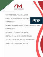 CUADRO COMPARATIVO MODELOS DE APRENDIZAJE