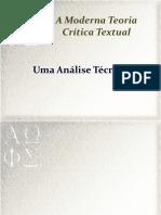 A Crítica Textual