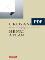 ATLAN, Henri - Croyances - Comment expliquer le monde