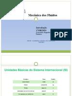Mecânica dos Fluídos- TABELA DE UNIDADES E DE CONVERSÃO