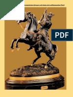 SOHER Bronzeskulptur Eines Germanischen Kriegers