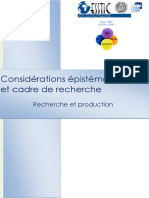 MOD.2 Considerations Epistemologiques Et Recherche Recherche Et Production 2